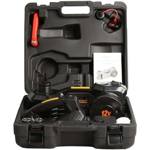 3-Ton 12V Electric Hydraulic Jack Kit with Impact Wrench & Inflator