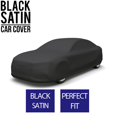 Full Black Car Cover for Triumph Stag 1972 Convertible 2-Door - Black Satin