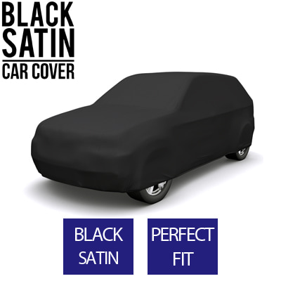 Full Black Car Cover for Aston Martin DBX 2020 SUV 4-Door - Black Satin