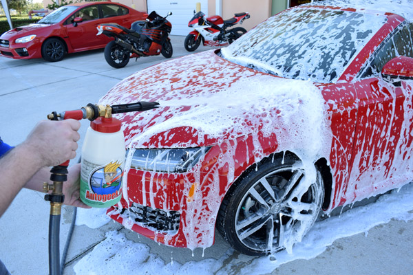 wash the car regularly